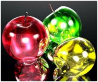 CGI Art - Crispy Green, Red, and Yellow Glass Apples