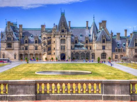 Biltmore House In Early Fall