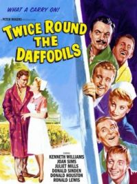 TWICE ROUND THE DAFFODILS - 1961 POSTER - KENNETH WILLIAMS, JULIET MILLS,DONALD SINDEN,ANDREW RAY,etc