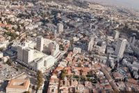 Israel From The Air. Jerusalem. A section of the town center.