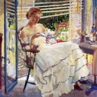 Girl With Jewels  Richard E Miller