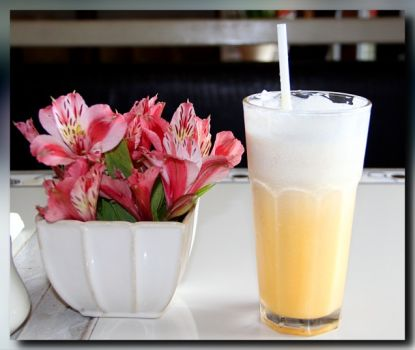 Alstroemeria and Mango Shake