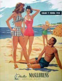 Themes Vintage ads - Masllorens swimsuit 1948