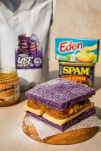 Filipino Ube Monte Cristo PanCake Sandwich