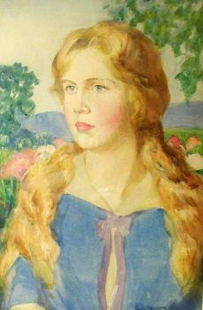 Portrait Of Blonde Woman - George Lawrence Nelson