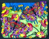 Coloring June Butterflies