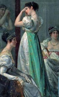 Dressing before the Coronation, c.1865  - Hector Viga
