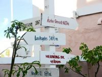 (22) distance signs to various cities, St. Croix, 2014