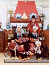 My youngest sister and her family. Volendam