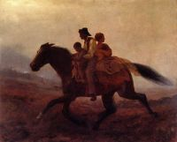 """A Ride for Freedom, The Fugitive Slaves"", by Eastman-Johnson,1862."