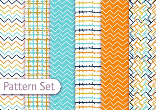 vector-colorful-line-art-pattern-set
