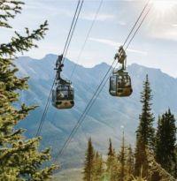 Gondolas in Banff, Alberta, Canada