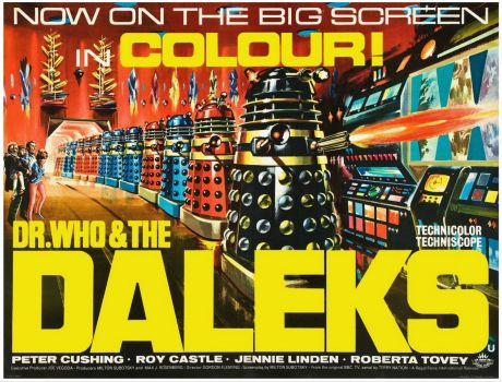 DR. WHO & THE DALEKS - 1965 POSTER  PETER CUSHING, ROY CASTLE, JENNIE LINDEN