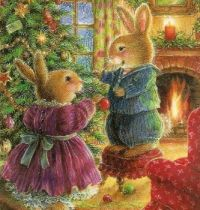 Decorating the Christmas Tree - Art by Susan Wheeler