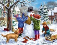 'Building A Snowman On A Snowday' by Liz Goodrick-Dillon