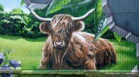SCOTLAND - Glasgow -Street Art - Highlander