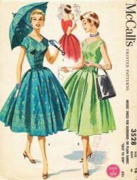 McCall's 1950's Summer Dress Pattern