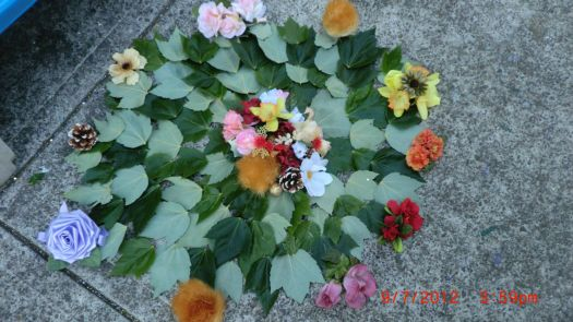 FLOWERS I MADE FOR SCHOOL!!!!!