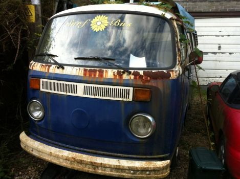 grubby old VW camper