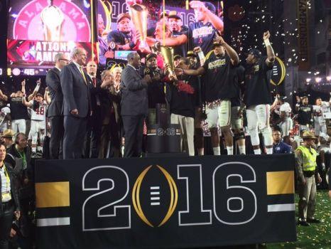 2016 National Champions Alabama Crimson Tide