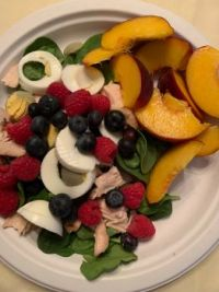 Summer Salad! Peaches are Peachy!