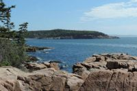 View from the coast of Maine