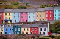 colourful houses Cork Harbour Ireland