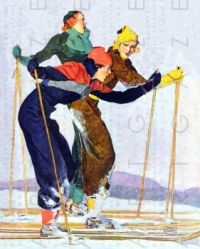 FLAPPERS GO SKIING