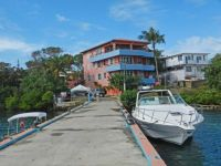 apartment houses with their own pier - in the Caribbean, 2015 trip