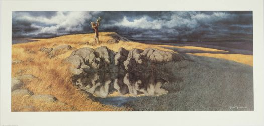 bev doolittle-calling the buffalo