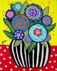 Mexican Flower Folk Art