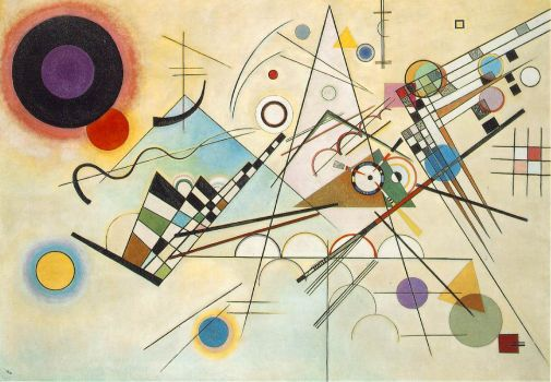 """Composition VIII "" (1923) by Wassily Kandinsky."