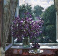 Stanislav Yulianovich Zhukovsky - Bluebells by the Window