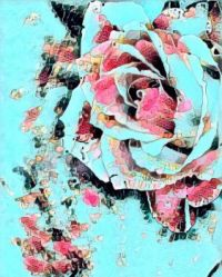 Abstract Art Rose