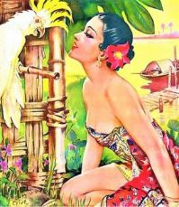 Themes Vintage illustrations/pictures - Beauty from Singapore