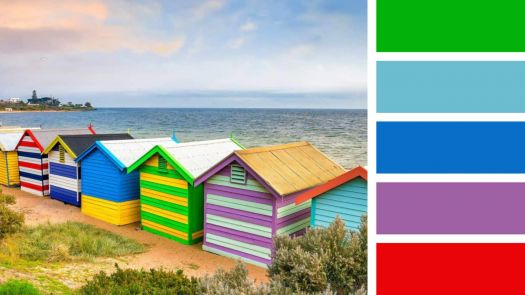 Beach Huts from Behind