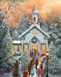 Christmas Going to Church