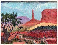 Monument Shadow ~ Shonto Begay (Navajo)