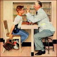 Painting  Eye Doctor  Norman Rockwell