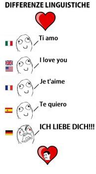 I love you languages German