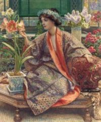 Sir Edward John Poynter (British, 1836–1919), A Hot-House Flower (1909)
