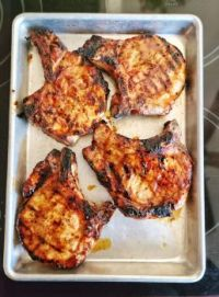 Four Pork Chops Grilled for Less than $7 Total