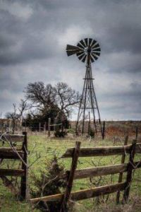 Windmill & Old Fence
