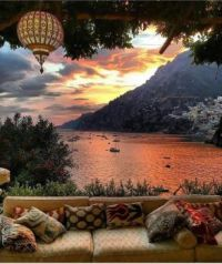 Magical Sunset, Positano, Italy