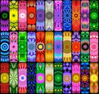 Round Rainbow Kaleidos  (BOARDS)  - S