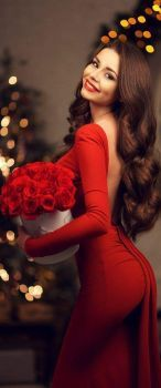 Backless red