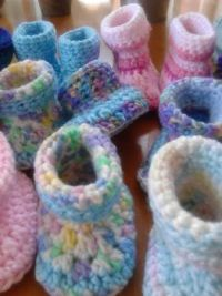 whole lot of Crochet Booties