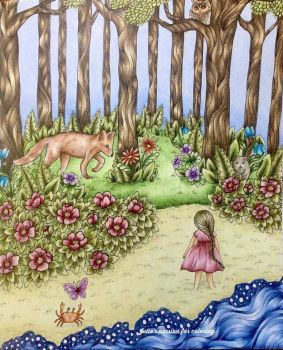 Vivi in the forest....visiting her friends