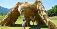 Giant Straw Bird Wara Art Festival
