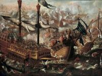 Battle of Lepanto 1571  17th century Found in the collection of Staatliche Museen Berlin. Artist Anonymous